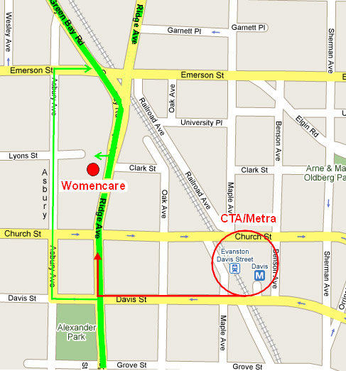 Map of WCC - Womencare Wcc Map on